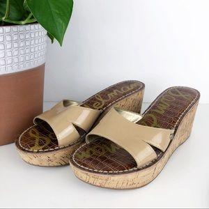💛 Sam Edelman Reid Neutral Beige Sandal Cork